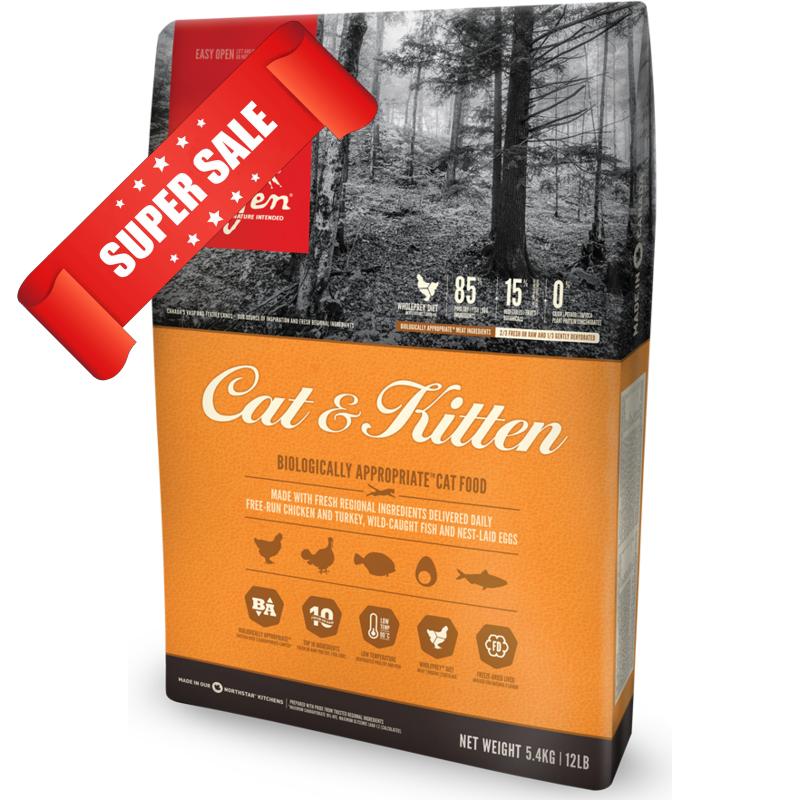 Сухой корм для котов Orijen Cat & Kitten 5,4 кг