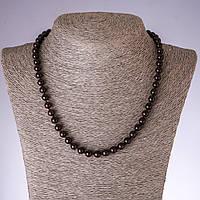 Бусы из натурального камня Гранат гладкий шарик, диаметр 7мм (+-), длина 45см