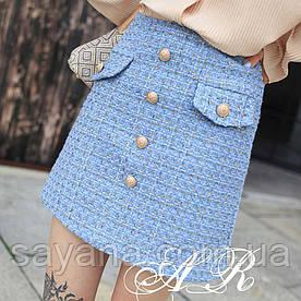 Женская юбка в стиле Chanel в расцветках АР-7-0919