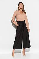 Женские широкие черные брюки-кюлоты, фото 1