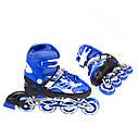 Роликовые коньки Nils Extreme NJ1828A Size 31-34 Blue, фото 5