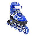 Роликовые коньки Nils Extreme NJ1828A Size 31-34 Blue, фото 10
