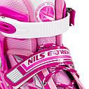 Роликовые коньки Nils Extreme NJ1828A Size 31-34 Pink, фото 5