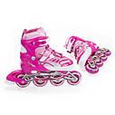 Роликовые коньки Nils Extreme NJ1828A Size 31-34 Pink, фото 9