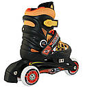 Роликовые коньки Nils Extreme NJ9128A Size 26-29 Black/Orange, фото 2