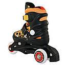 Роликовые коньки Nils Extreme NJ9128A Size 26-29 Black/Orange, фото 3