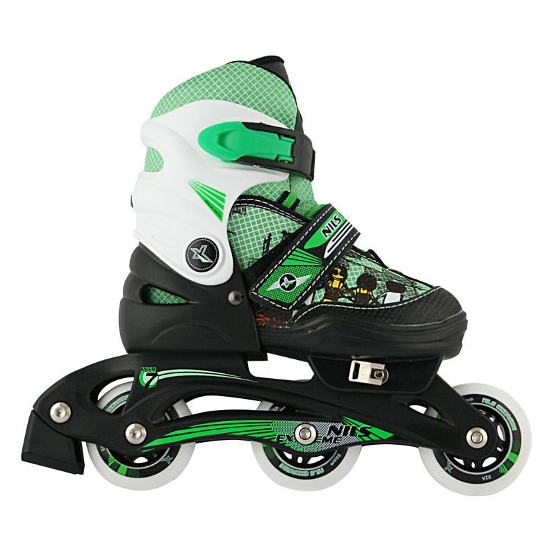 Роликовые коньки Nils Extreme NJ9128A Size 26-29 Black/Green