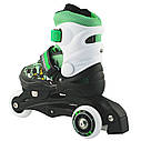Роликовые коньки Nils Extreme NJ9128A Size 26-29 Black/Green, фото 3