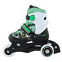 Роликовые коньки Nils Extreme NJ9128A Size 26-29 Black/Green, фото 6