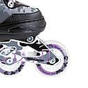 Роликовые коньки Nils Extreme NA1118A Size 35-38 Purple, фото 2