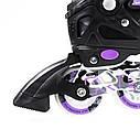 Роликовые коньки Nils Extreme NA1118A Size 35-38 Purple, фото 10