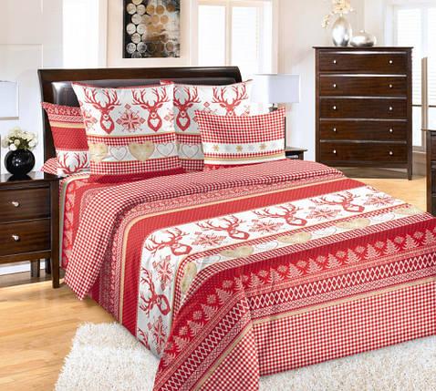 Постельное белье Лапландия красн. перкаль  ТМ Комфорт-Текстиль (Семейный), фото 2