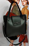 Женская сумка черно-серого цвета с плечевым ремешком , экокожа Michael Kors