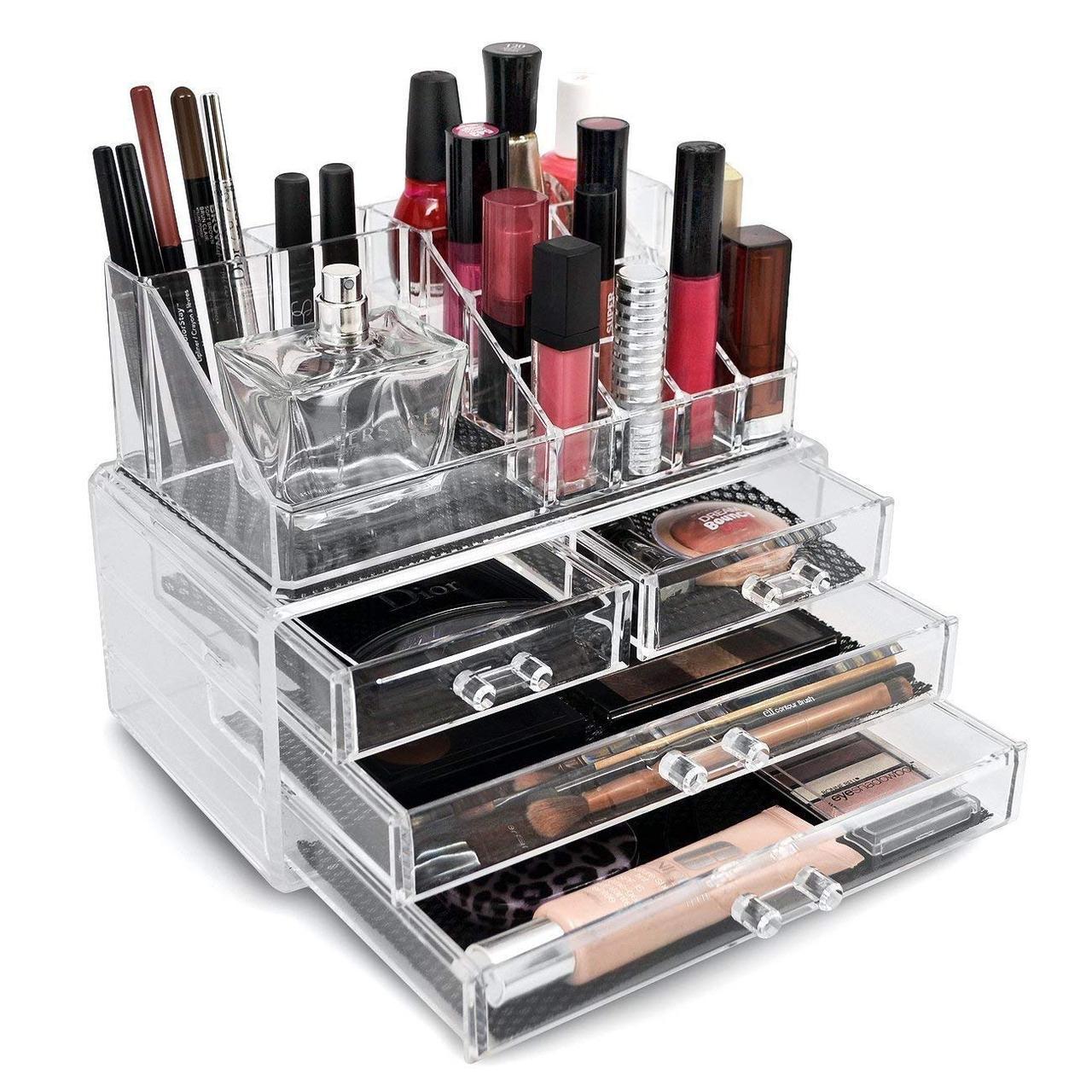Акриловый органайзер для хранения косметики Cosmetic Storage Box