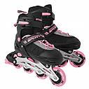 Роликовые коньки SportVida SV-UP0004 Size 38-41 Black/Pink, фото 6