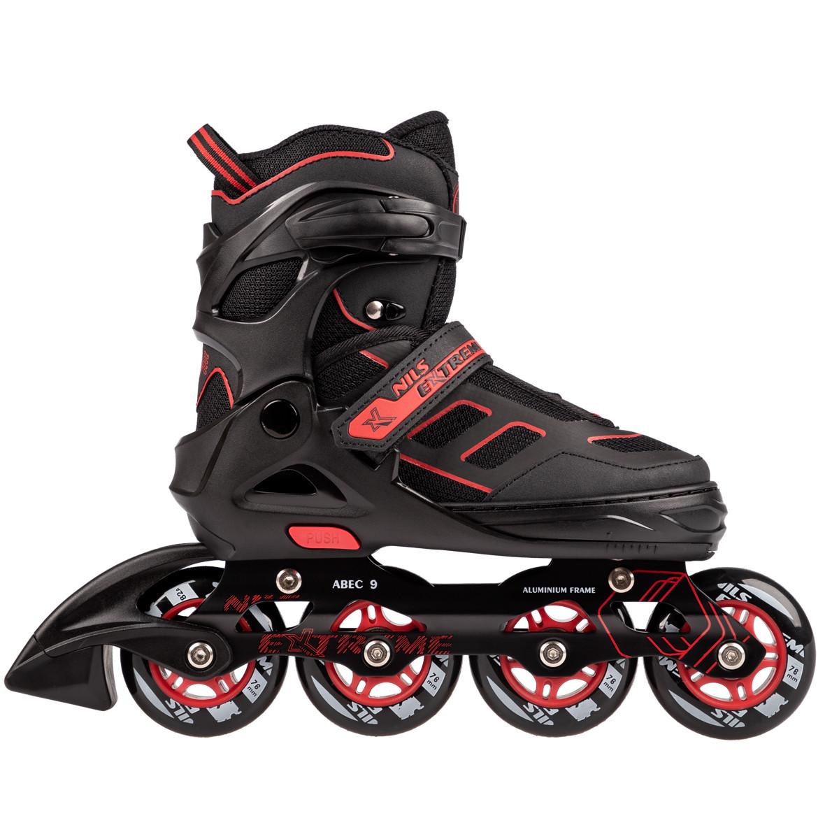 Роликовые коньки Nils Extreme NA14174A Size 35-38 Black/Red