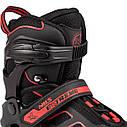 Роликовые коньки Nils Extreme NA14174A Size 35-38 Black/Red, фото 2