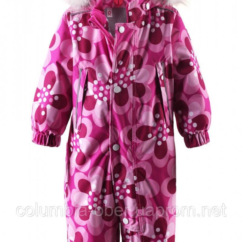 Розовый зимний комбинезон для девочки ReimaTEC Azaleh. Размер 80 -  92.