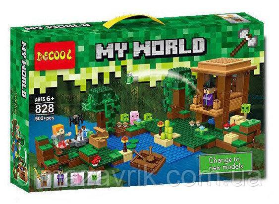 """Конструктор Decool 828 (Аналог LegoMinecraft 21133) """"Хижина ведьмы"""" 502детали"""