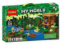 """Конструктор Decool 828 (Аналог LegoMinecraft 21133) """"Хижина ведьмы"""" 502детали, фото 1"""