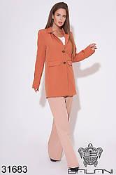 Женский удлинённый пиджак терракотовый