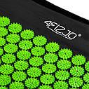 Коврик акупунктурный с валиком 4FIZJO Аппликатор Кузнецова 72 x 42 см 4FJ0043 Black/Green, фото 5