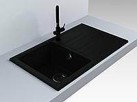 Кухонная мойка из искусственного камня 75*39*20 см Miraggio VERSAL черный