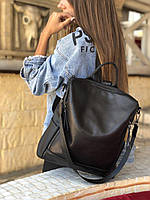 Стильный кожаный сумка рюкзак. Мужской кожаный рюкзак. Женский кожаный рюзак
