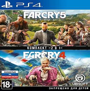 Far Cry 4 + Far Cry 5 (русская версия) PS4