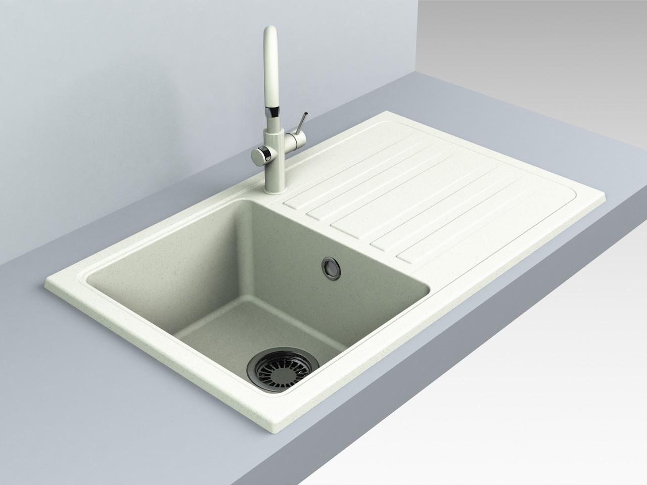 Кухонная мойка из искусственного камня 75*39*20 см Miraggio VERSAL жасмин