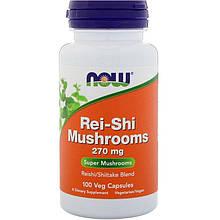 """Смесь грибов рейши и шиитаке NOW Foods """"Rei-Shi Mushrooms"""" 270 мг (100 капсул)"""