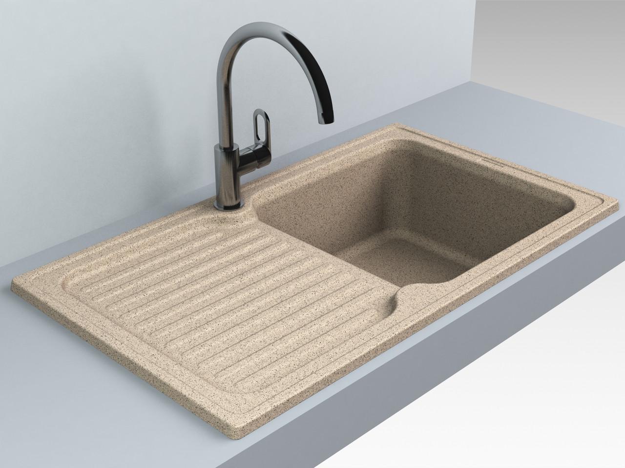 Кухонная мойка из искусственного камня 86*50*21 см Miraggio ORLEAN терра