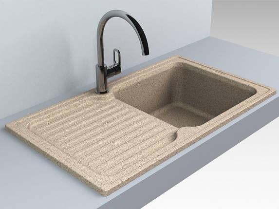 Кухонная мойка из искусственного камня 86*50*21 см Miraggio ORLEAN терра, фото 2
