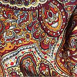 Ларец самоцветный 762-5, павлопосадский платок шерстяной  с шелковой бахромой, фото 4