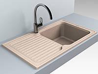 Кухонная мойка из искусственного камня 86*50*21 см Miraggio ORLEAN песочный