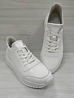 Кроссовки кожаные белые подростковые EMILI, фото 1