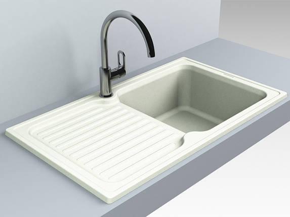 Кухонная мойка из искусственного камня 86*50*21 см Miraggio ORLEAN жасмин, фото 2