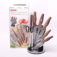 Набір кухонних ножів і ножиці Kamille на акриловій підставці 8 предметів