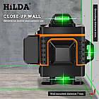 4D Лазерный уровень Hilda 4D 16 линий ➜ ПУЛЬТ ➜ Зеленые лучи ➜ ГАРАНТИЯ: 1 год, фото 4