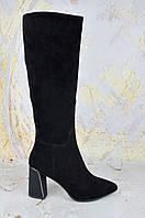 Женские сапоги на каблуке Lady Marcia 100% ЗАМША