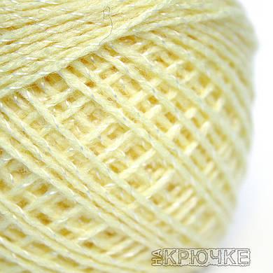 Пряжа акрил Ярослав цвет - желтый с люрексом