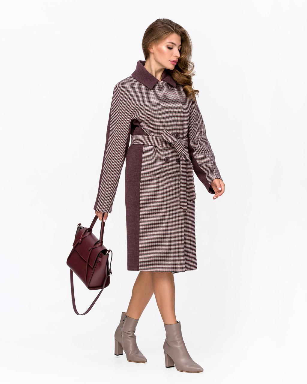 Модное пальто в клетку с 42 по 52 размер