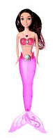 Кукла для девочек A 009-7 Русалка с темно-розовым светящимся хвостом | русалочка | светящаяся куколка, фото 1