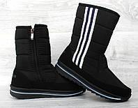 Зимові жіночі спортивні чоботи - дутики (Пр-3105ч)