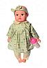 Пупс игрушечный в зеленой одежде с бутылочкой M 3887 UA LIMO TOY мягконабивной, музыкально-звуковой | куколка