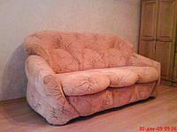 Перетяжка дивана одним чехлом.