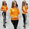 Спортивный костюм женский (мод. 798) Adidas (реплика) Цвет: оранжевый; черный