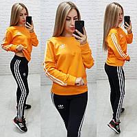 Спортивный костюм женский (мод. 798) Adidas (реплика) Цвет: оранжевый; черный, фото 1
