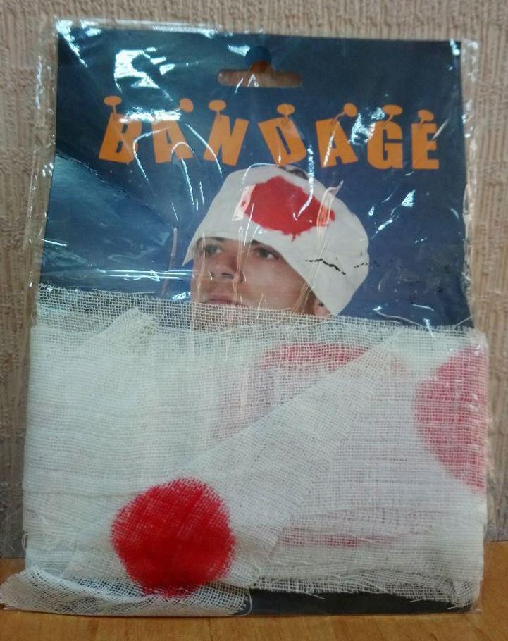 Повязка на голову с пятнами крови (костюм на Хэллоуин)