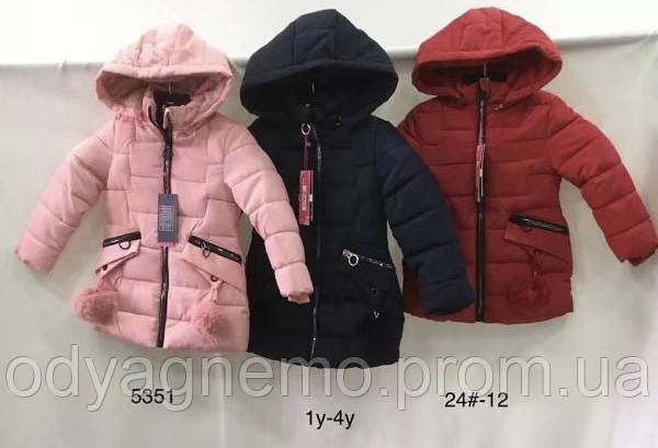 Куртка утепленная для девочек Nature оптом,1-4 лет. Артикул: RYG5351